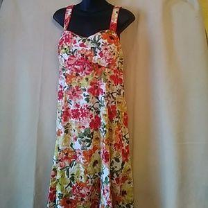 R & K Originals cotton floral sundress-sz 16